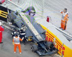 Nico Hulkenberg nehoda v 1.kole