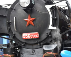 Pražský železniční den -Smíchov parní lokomotiva