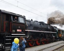 Pražský železniční den- Řevnice - parní lokomotiva 556.0506