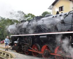 Pražský železniční den- Hostivice- parní lokomotiva