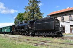 Kolešovka - parní vlak v Kněževsi