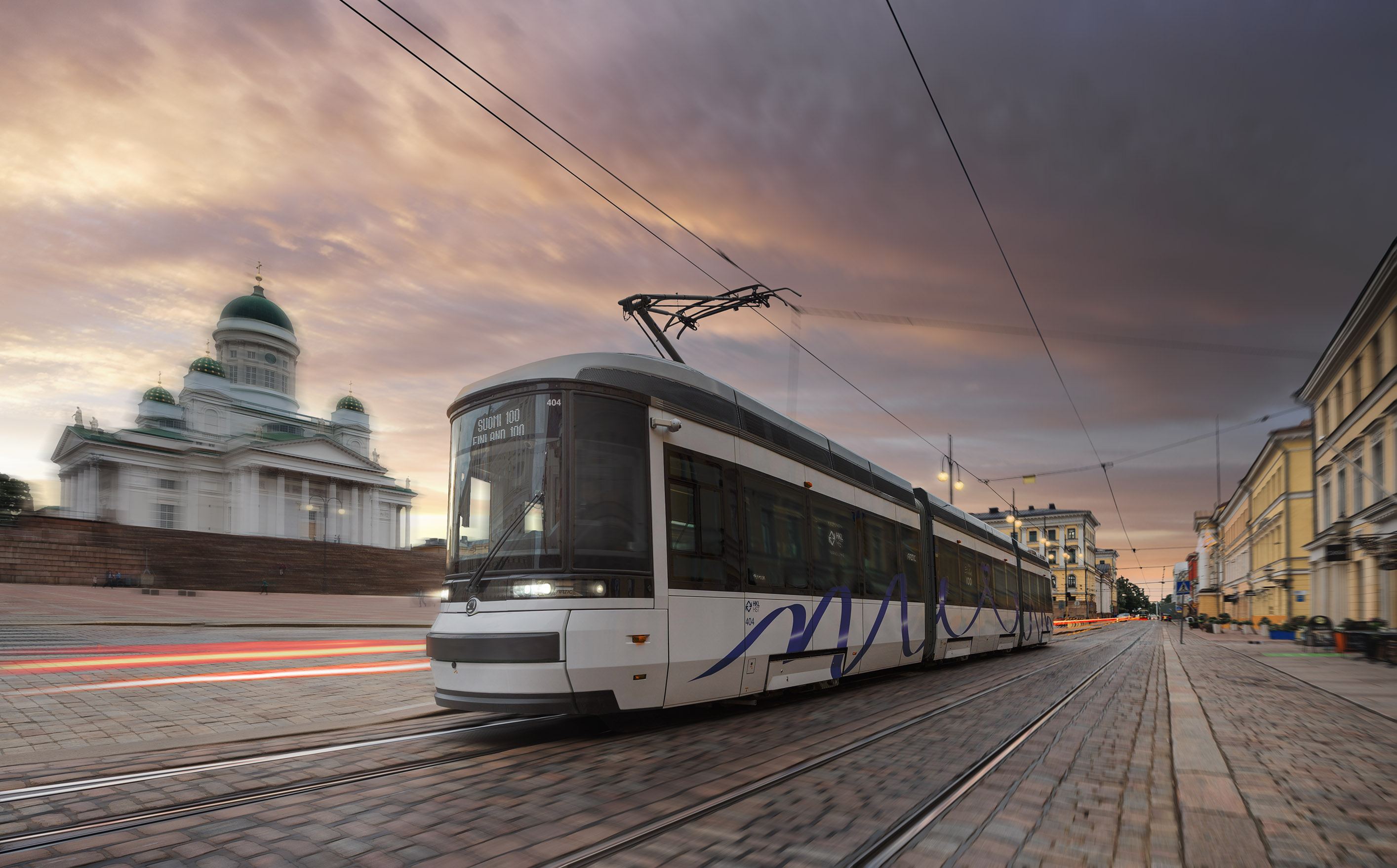 Ilustrační fotografie - tramvaje ForCity Smart Artic Helsinki